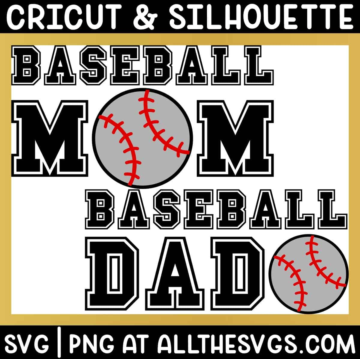 free baseball mom dad svg png for t shirt.