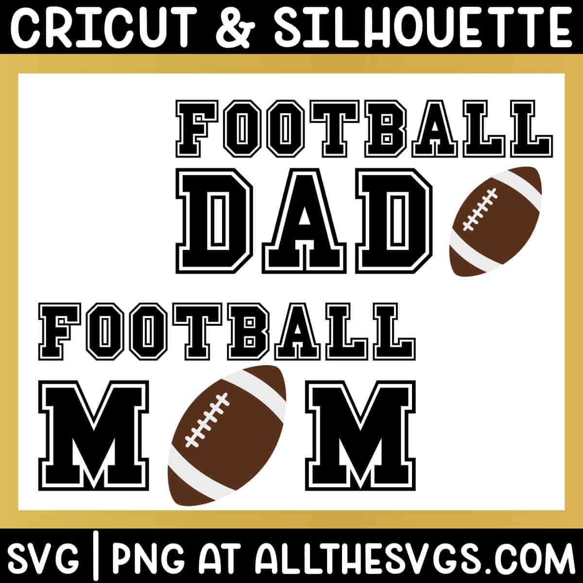 free american football mom dad svg png for t shirt.