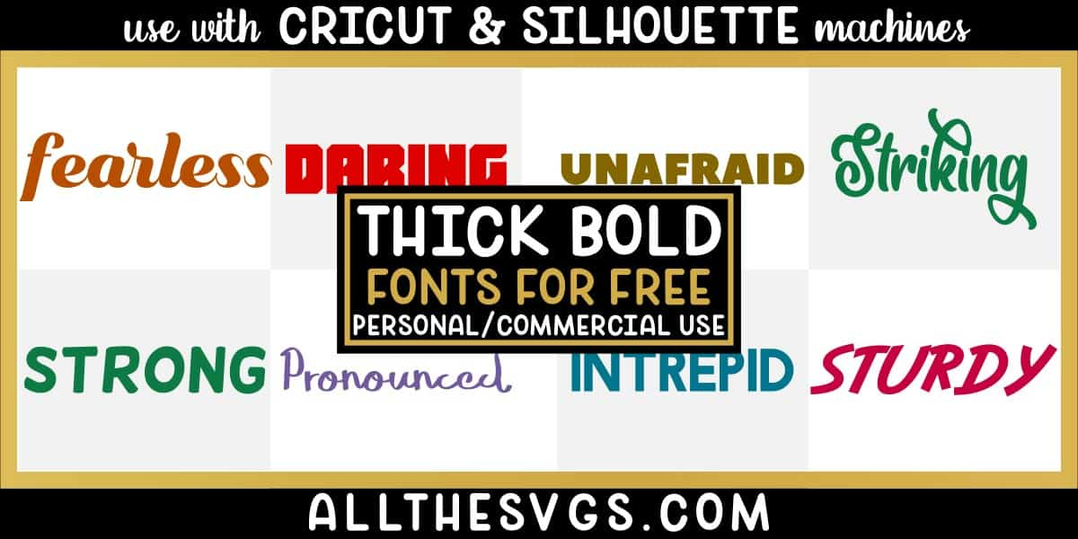free thick, bold fonts with variety of typefaces like cursive, calligraphy, vintage poster & more.