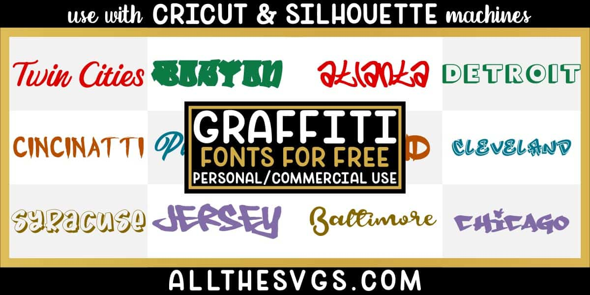 free graffiti fonts with variety of typefaces like spraypaint tag, inner city hip hop lettering & more.
