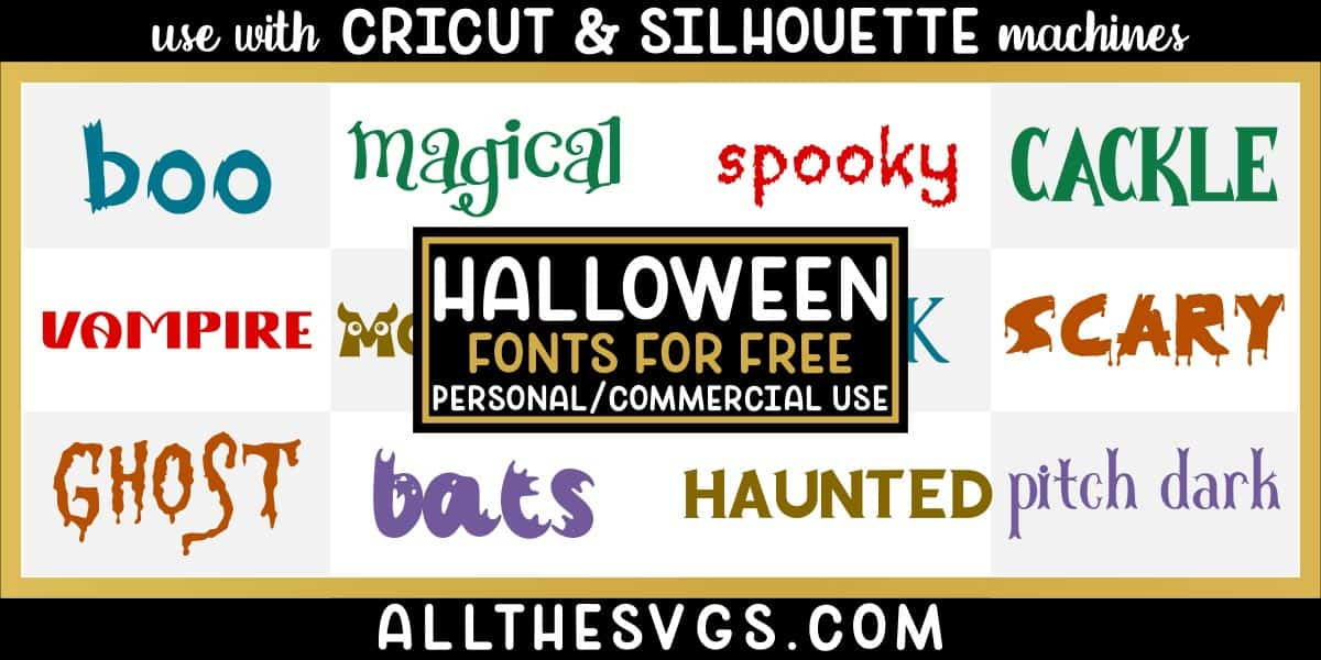 free halloween fonts with variety of typefaces like dripping blood letters, creepy edges & more.