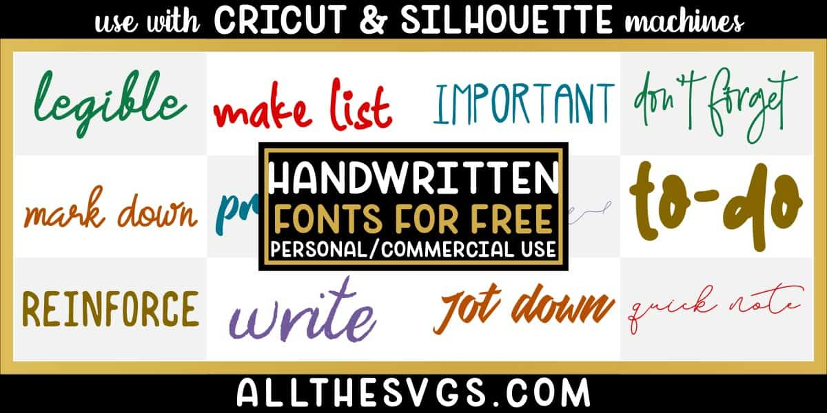 free handwritten fonts with variety of typefaces like messy handwriting, thick brush marker text, modern signature & more.