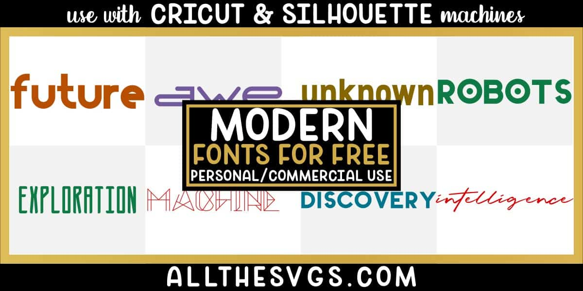 free modern fonts with variety of typefaces like thin skinny caps, geometric letters & more.