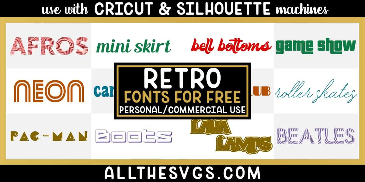 free retro fonts with variety of typefaces like arcade games, animal print, monoline script & more.