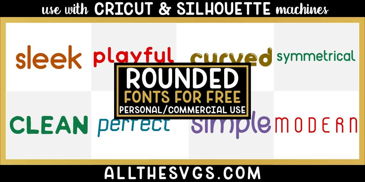 free round fonts with variety of typefaces like modern futuristic, girly handlettering, thin letters & more.