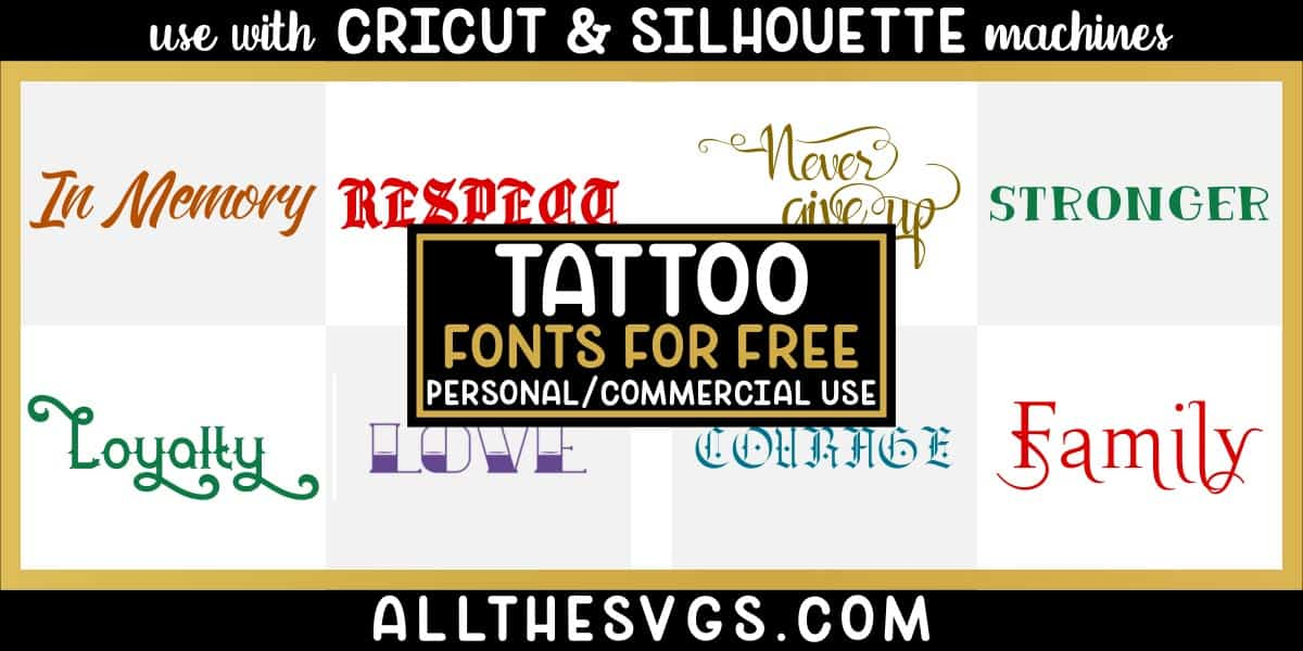 free tattoo fonts with variety of typefaces like old english, gothic blackletter & more.