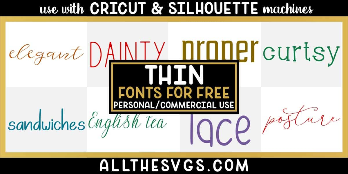 free thin fonts with variety of typefaces like calligraphy, bouncy script, boyish handwriting, skinny caps & more.
