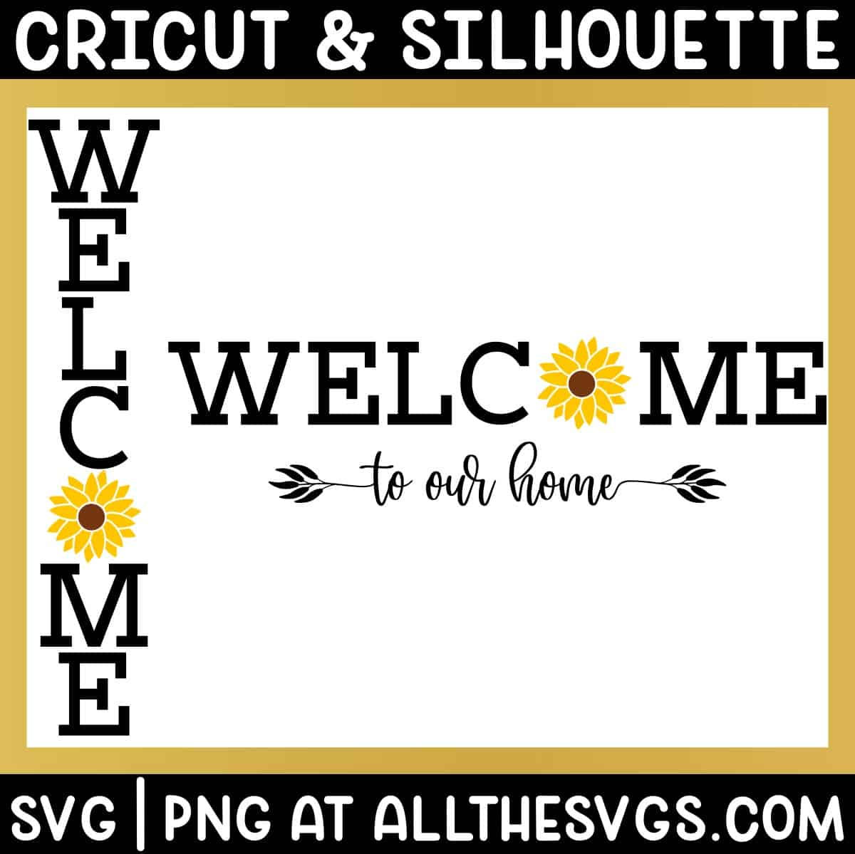 free welcome to our home vertical porch sign and horizontal home decor wall art.