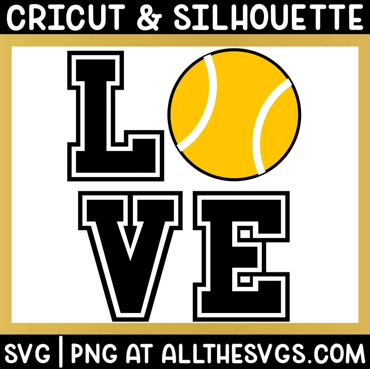 free tennis love square svg png.