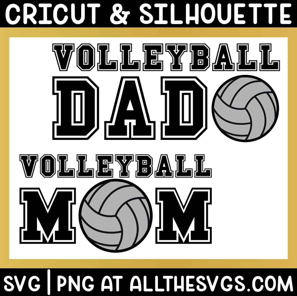 free volleyball mom dad svg png for t shirt.