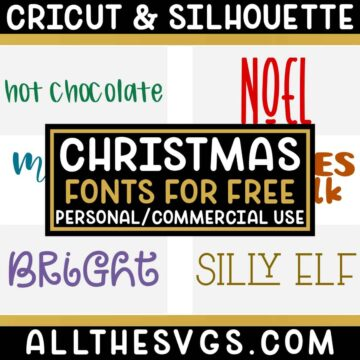 Best Free Winter Christmas Fonts for Cricut & Silhouette Crafts, Logos, Graphic Design