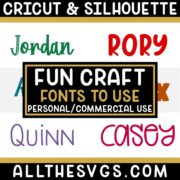 Best Free Beginner Craft Fonts for Cricut & Silhouette Crafts, Logos, Graphic Design
