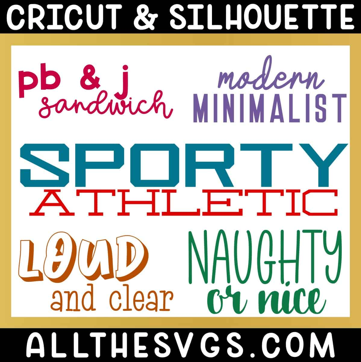 free fun fonts that go well together for cricut silhouette with examples.