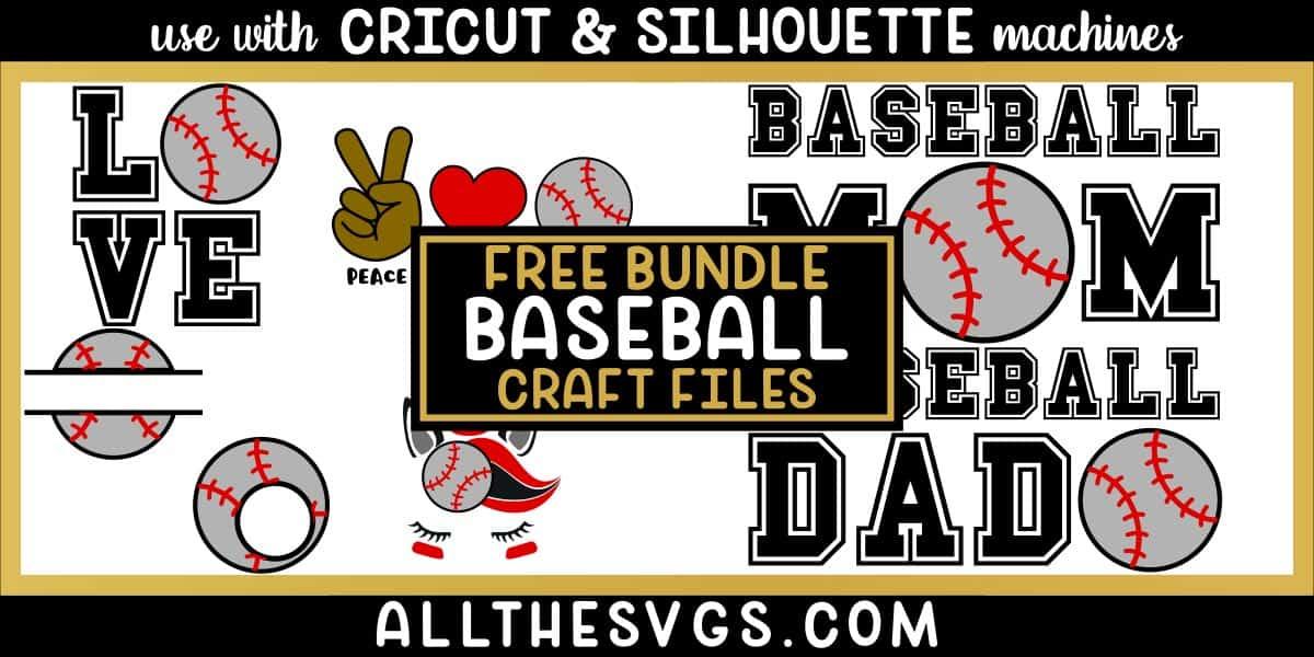 baseball svg png bundle with monogram, peace, love, unicorn, mom, dad designs.