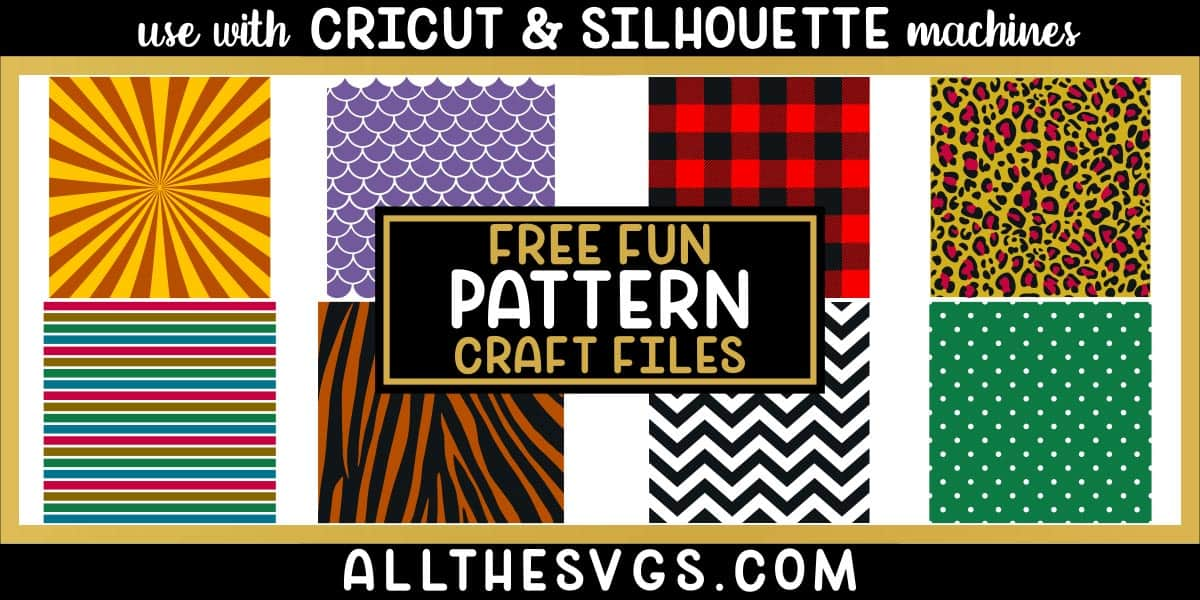 patterned background svg file such as mermaid scales, starburst, buffalo plaid, animal textures.