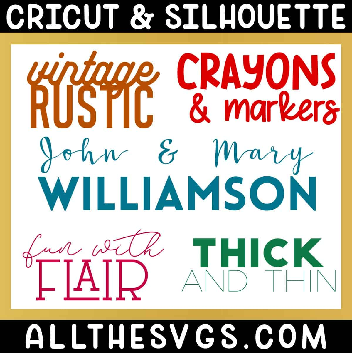 free fun fonts that go together for cricut silhouette with examples.