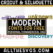 Best Free Modern & Futuristic Fonts for Cricut & Silhouette Crafts, Logos, Graphic Design