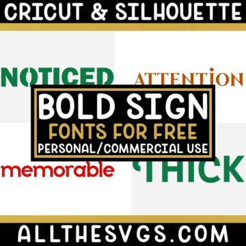 Best Free Fonts for Signs for Cricut & Silhouette Crafts, Logos, Graphic Design